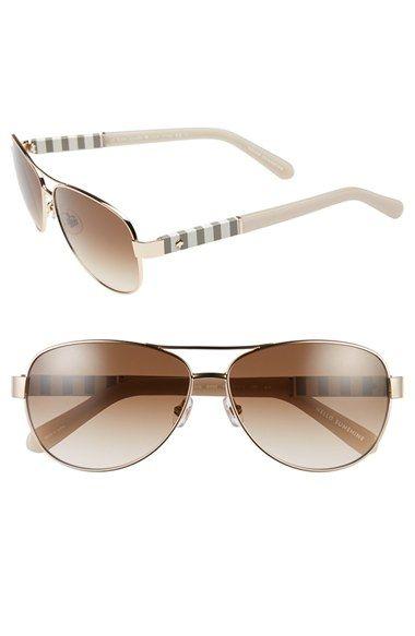 kate spade new york 'dalia' 58mm aviator sunglasses