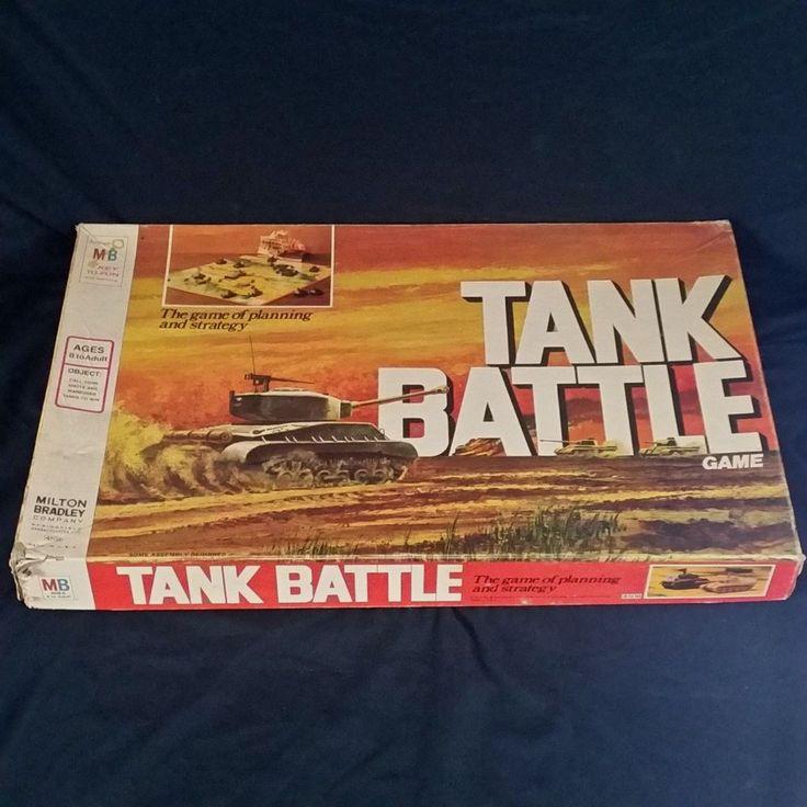 Tank Battle Board Game Vtg 1975 Milton Bradley War Strategy WWII Warfare #TankBattle #WWII #MiltonBradley #VintageGames #BoardGames #70s #WarMiniatures