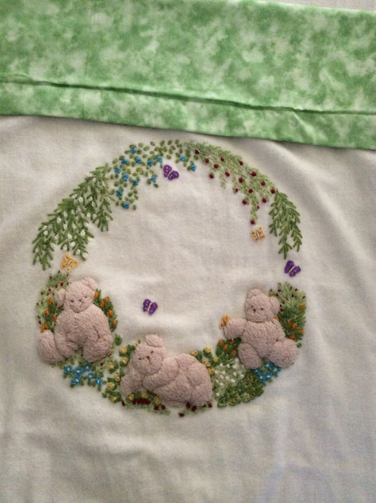 Embroidered baby blank