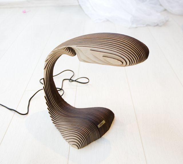 LED lamp made of plywood Embryo by David Bayramyan, via Flickr