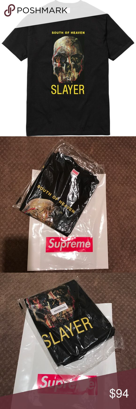 Supreme x Slayer South of Heaven L Brand new in bag never worn. 🚫NO TRADES🚫 Supreme Shirts Tees - Short Sleeve
