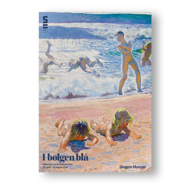 Exhibition poster. In the Breakers Blue - Willumsen and the bathing children 22. April - 21. Aug. 2016. [I Bølgen Blå - Willumsen og de badende børn]