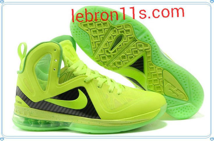 Cheap Lebrons Shoes Lebron 9 Elite Lime Green Volt Black 516958 005