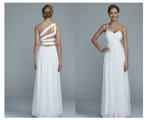 Love This One Shoulder Flowy Dress With Incredible Back