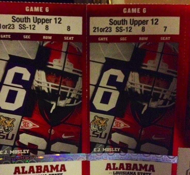 University of Alabama Football Tickets