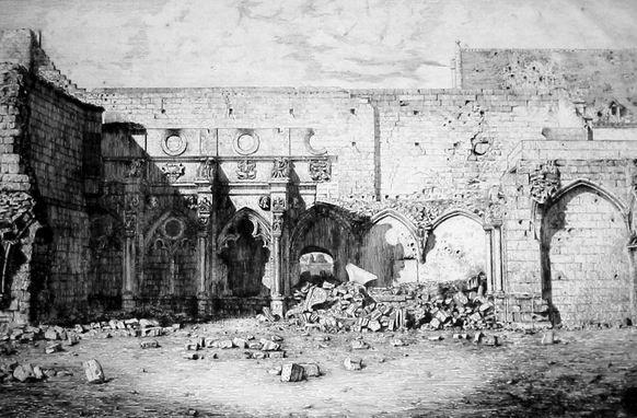 Saint-Jean-des-Vignes, petit cloitre après 1870
