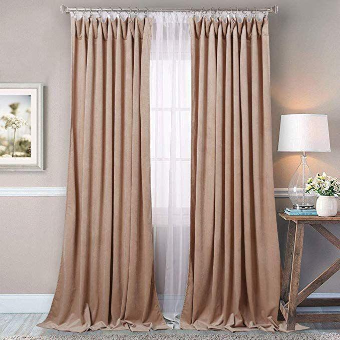 Stangh Luxury Velvet Curtains 84 Inch Room Darkening Luxury