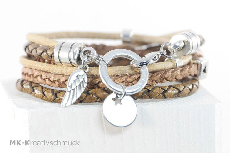 Leder Wickelarmbänder - Wickelarmband Leder - ein Designerstück von MK-Kreativschmuck bei DaWanda