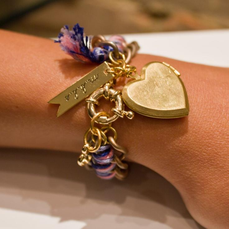 m.b.l.e. Bracelet with Heart Locket