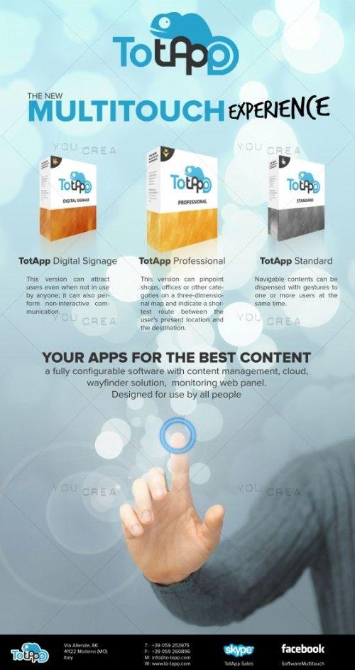 Grafica per locandina pubblicitaria per software professionale