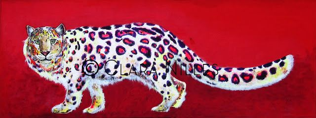 My What Big Tail You Have! 15x40 acrylic on canvas