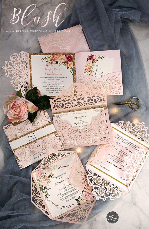 Pink Wedding Invitations Elegant Wedding Invites Elegantweddinginvites Pink Wedding Invitations Wedding Invitations Romantic Wedding Ceremony Invitations