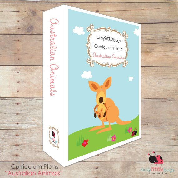 Australian Animals Curriculum Plans by BUSYLITTLEBUGSshop on Etsy