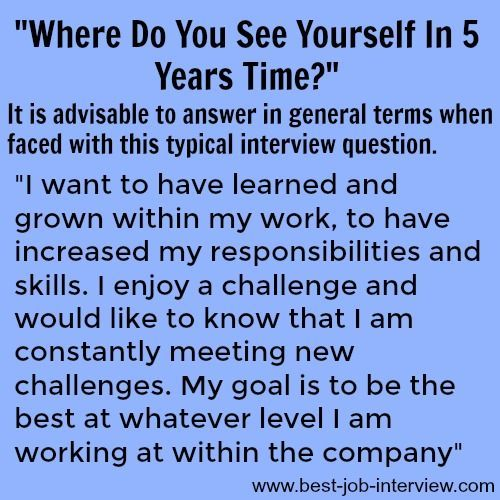 Job Interview Question and Answer – What are your career goals?
