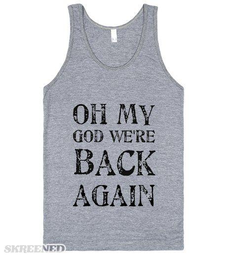 Backstreet's Back Backstreet's back...alright! Printed on Skreened Tank