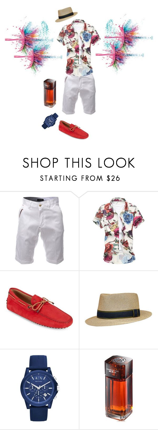 """""""Untitled #422"""" by shinysweet ❤ liked on Polyvore featuring Givenchy, Tod's, Armani Exchange, Shanghai Tang, men's fashion and menswear"""