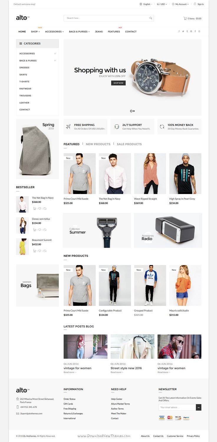 Alto is a Responsive @Magento 1 & 2 theme with extremely customizable admin settings with 4+ #homepage #layouts for multipurpose eCommerce website download now➝ https://themeforest.net/item/mazarine-multipurpose-one-page-template/16811703?ref=Datasata