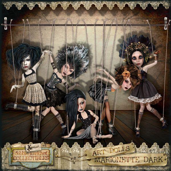 'Marionette Dark' Artdoll kit