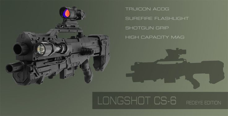 Nerf Longshot CS-6 Mod by ~Croc-blanc on deviantART