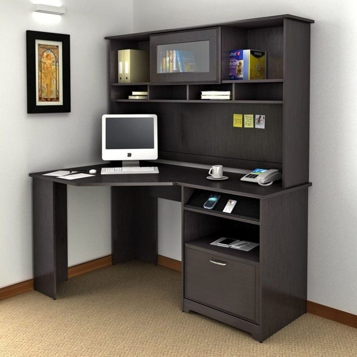 25 best ideas about computer desk with hutch on pinterest white desk with hutch wood - Small wooden computer desks for small spaces concept ...