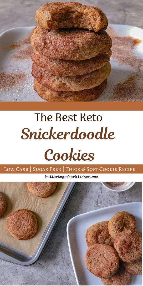Das beste Rezept für Keto Snickerdoodle-Kekse – Innen weich und feucht! Diese…