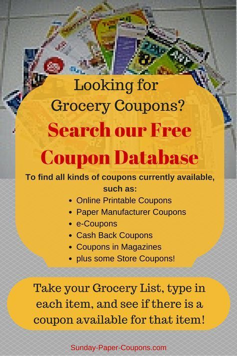 The 25+ best Free coupons by mail ideas on Pinterest Coupons by - food list samples