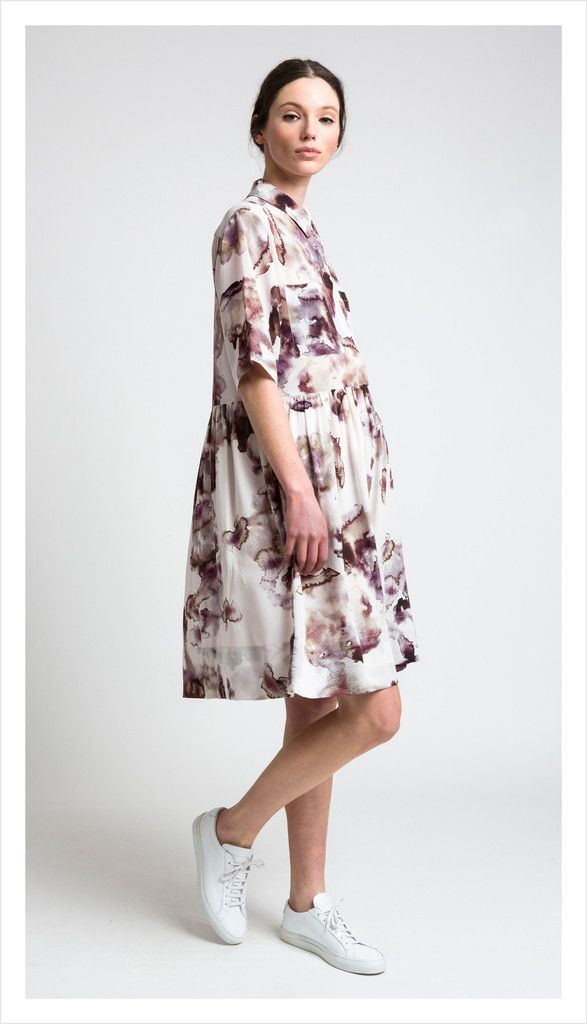 camille shirt dress (liquid stone)