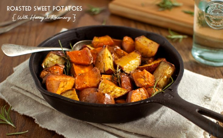 Roasted Sweet Potatoes with Honey and Rosemary