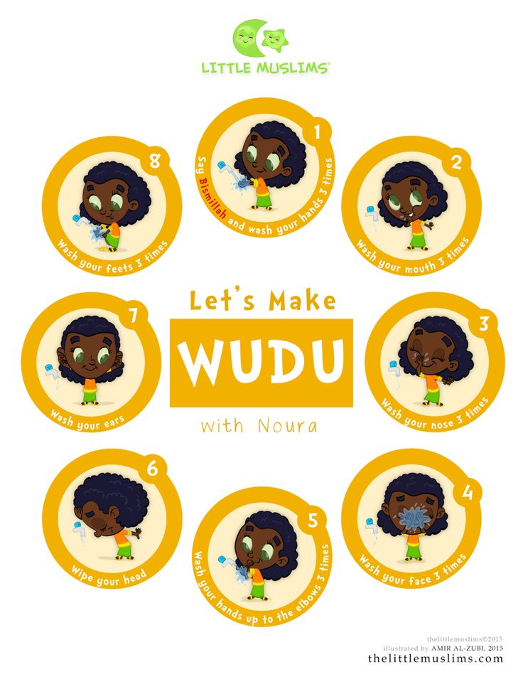 Let's Learn Wudu Poster: Noura-Yellow