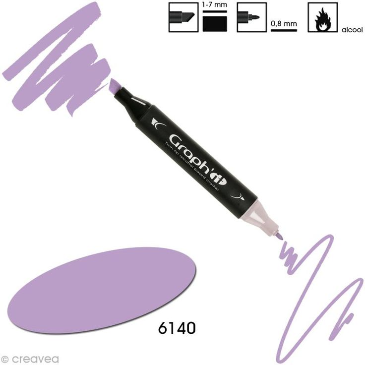 Feutre à alcool Graph'it 6140 - Lavender (violet lavande)