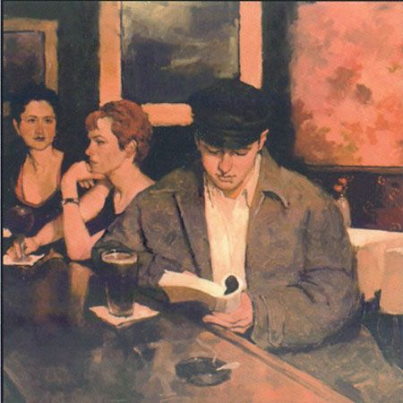 Joseph Lorusso. This is the only work I could find in which the reader is drinking beer! The Reader in Art usually prefers red wine.