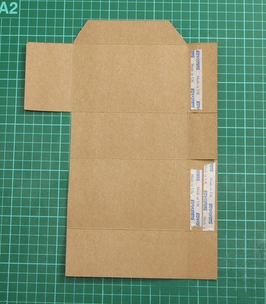 DIY project: wedding favour pouches made from recycled brown card