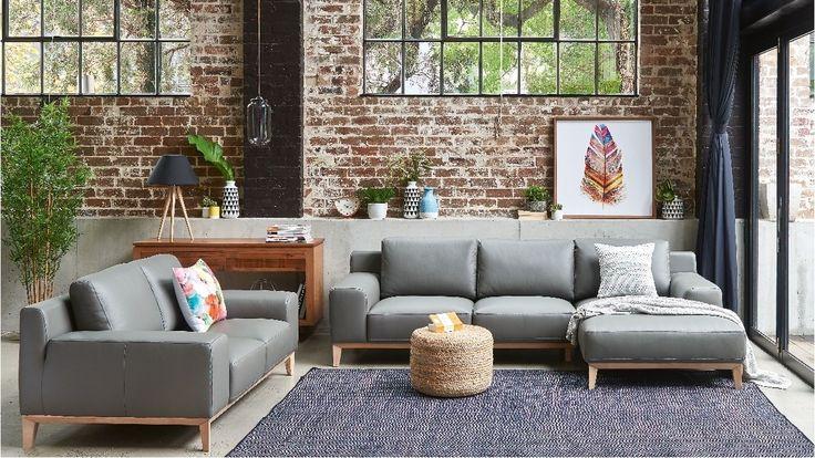 Amelia 2 Piece Leather Lounge Suite