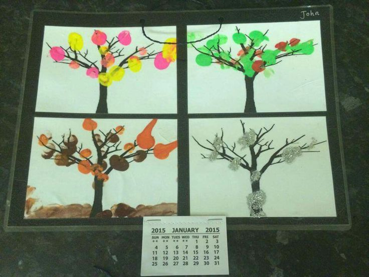 Seasonal trees calender