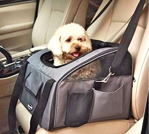 Small Dog Car Seat Carrier Travel Comfortable Best Friend Protector Bag Puppy  #SmallDogCar