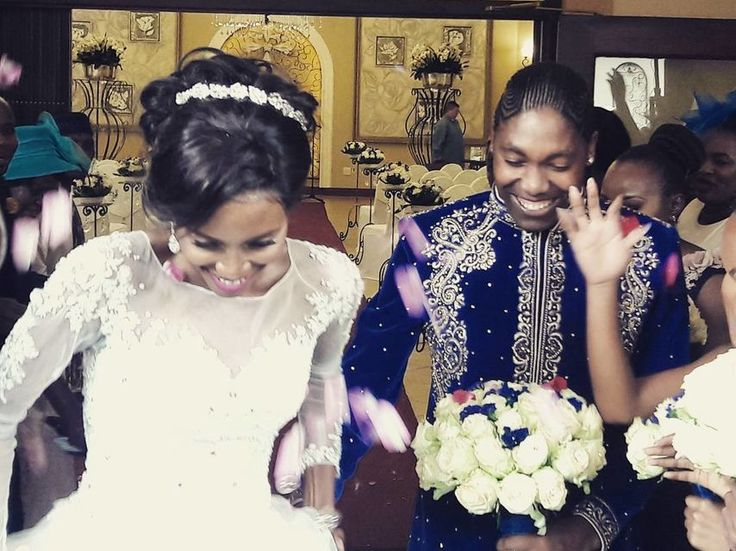 La fastuosa boda civil de Caster Semenya la atleta sudafricana cuestionada por su sexo