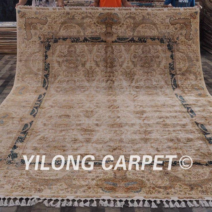 Yilong 9.2'x12.5′ 100% handknotted home persian ka…
