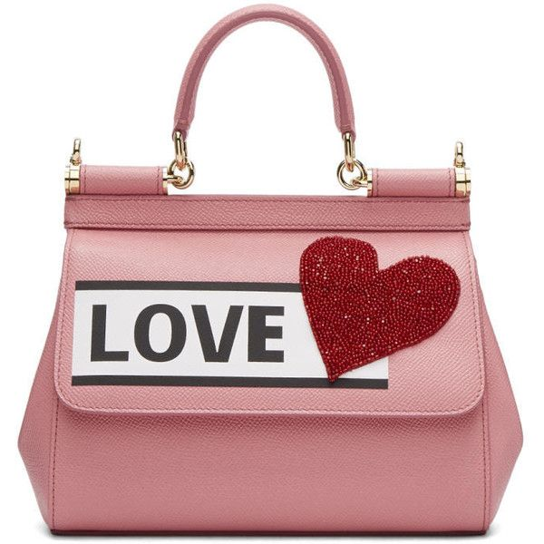 Dolce and Gabbana Pink Love Sicily Bag ($2,075) ❤ liked on Polyvore featuring bags, handbags, shoulder bags, pink, pink shoulder bag, sequin shoulder bag, leopard purse, pink purse and leopard print handbag