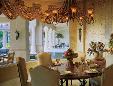 "Sater Design Collection's 6910 ""Fiorentino"" Home Plan - mediterranean - dining room - miami - Sater Design Collection, Inc."