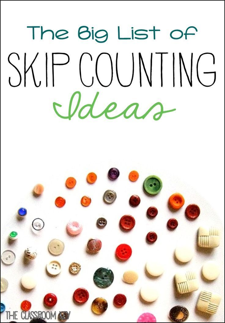 The big list of skip counting ideas and activities, perfect for building number sense in first and second grade #skipcounting #teachingmath #2ndgrade #3rdgrade