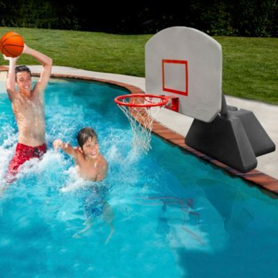 Poolside lighted basketball set pool party pinterest basketball - Pool basketball ...