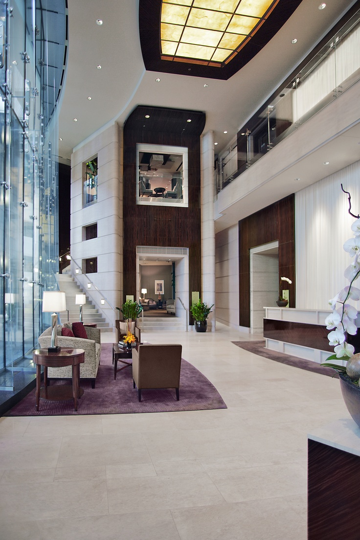http://www.trumphotelcollection.com  Lobby at Trump Chicago