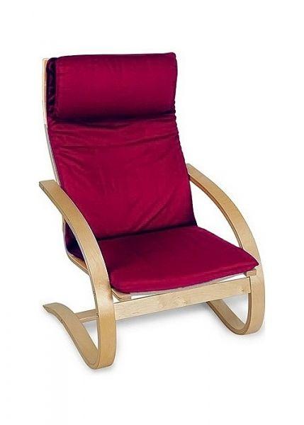 Кресло 1812K дуб светлый/бордовый. Этот цвет так и манит!