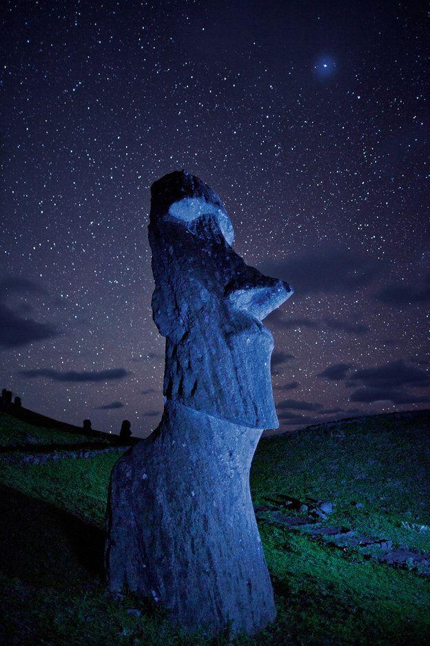 Moai. Easter Island