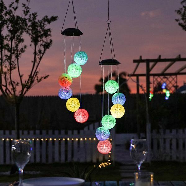 Solar Powered Dangling Dandelion Lights Dandelion Light Wind