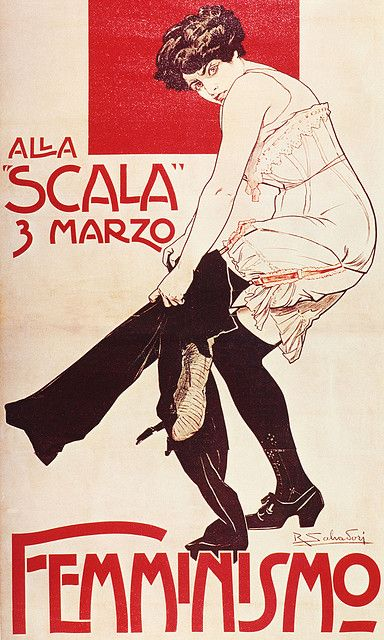 Poster Italiano Femminismo