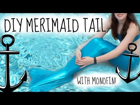 DIY Swimmable Mermaid Tail- How to make a Fin Fun Inspired Tail + Monofin for less than $20!! - YouTube