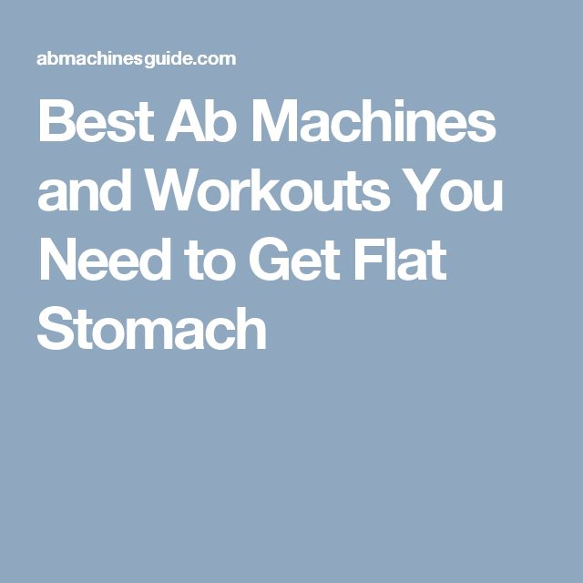best stomach workout machine
