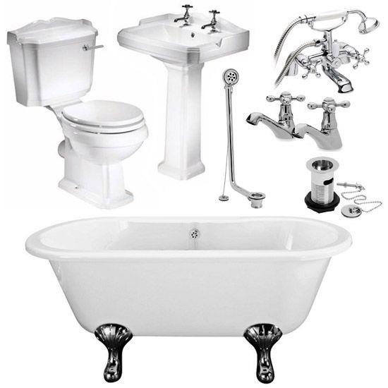 Legend Traditional Roll Top Bathroom Suite at Victorian Plumbing UK