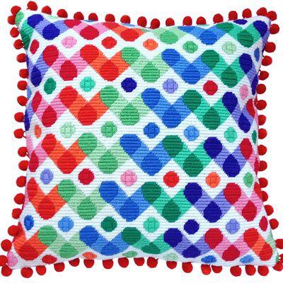 Rainbow needlepoint kit from The Stitchsmith